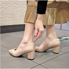 Women Korean Trend Fashion Shallow Mouth Thick  Casual Shoes Plus Size