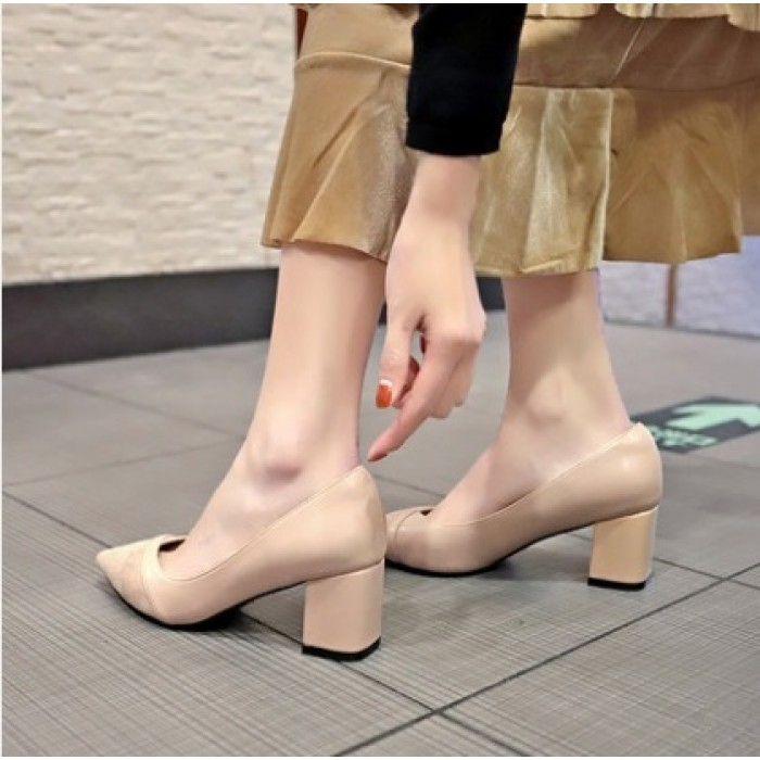 05d9148fc4e Women Korean Trend Fashion Shallow Mouth Thick Casual Shoes ...