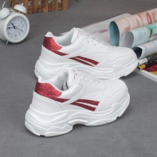 Women Korean Trend Harajuku Style Thick Soled Running Shoes