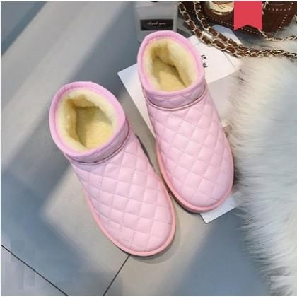 Women Korean Trend Velvet Flat Cotton Snow Boots Plus Size
