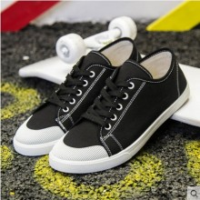 Men's Fashion Youth Trend Wild Style  Low Cut Lace Up Canvas Sneakers