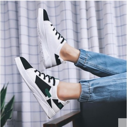 Men's Fashion Trend Wild Style Color Matching Lace Up Canvas Shoes