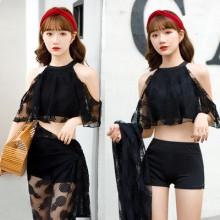 Women Korean Fashion 3 Piece Sexy Lace Bikini Swimwear