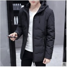Men's Korean Youth Fashion Thick Cotton Coat Long Sleeved Jacket