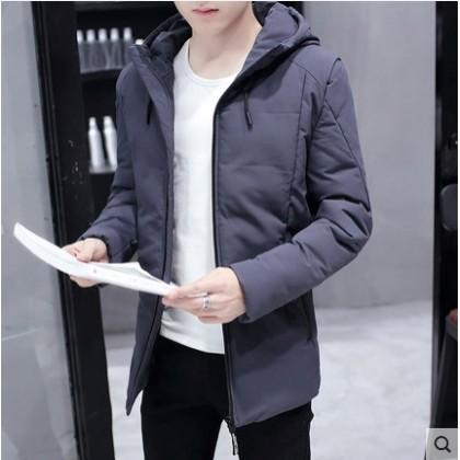 Men's Korean Youth Fashion Thick Cotton Coat Long Sleeved Jacket