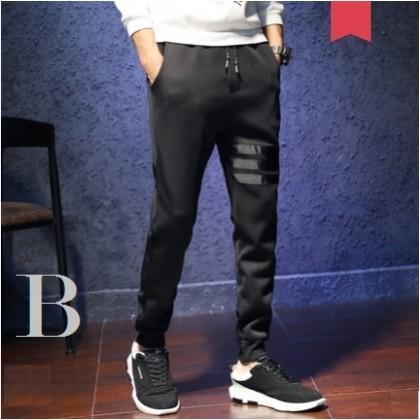 Men's Korean Youth Fashion Micro Elastic Slim Sports Trouser