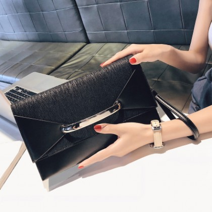 Women Korean Fashion Envelope Clutch  Wild Style Handbag