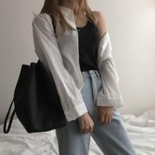 Women Korean Fashion Trend Large Capacity Retro Messenger Bag
