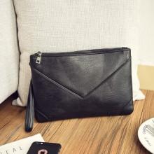 Men's Korean Fashion Trend   Soft Leather Casual Envelope Handbag