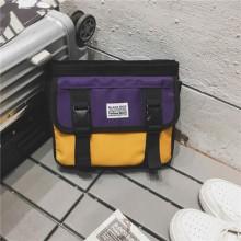 Men's Korean Fashion Trend Hip Hop Style Small Crossbody Canvas Bag