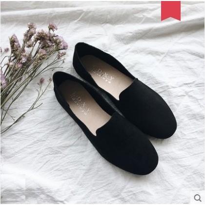 Women Korean Trend  Shallow Mouth Velvet Fairy Flat Shoes