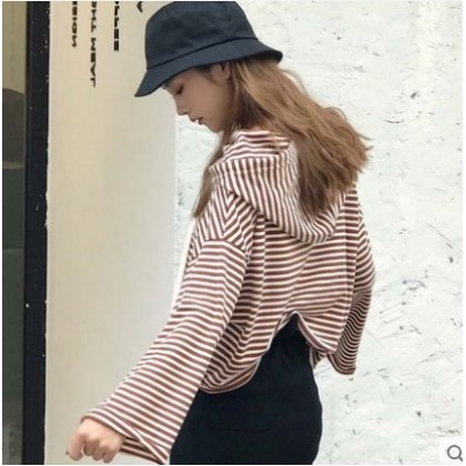 Women Korean Fashion Trend  Loose Hip Hop Long Sleeve Hoodie Sweater