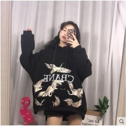 Women Korean Fashion Trend  Thick Velvet Loose Hooded Baby Sweater