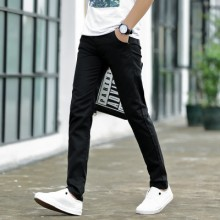 Men Korean Fashion Trend Colored Summer Slim Fit Trousser