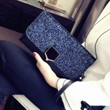 Women Korean Fashion Sequins Lady Handbag Wild Clutch Chain Sling Bag
