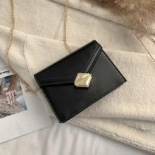 Women Korean Trend Retro Lock Chain Wild Style Messenger Shoulder Bag