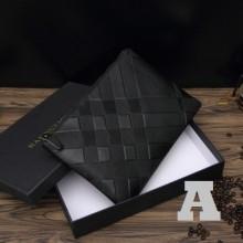 Men's Korean Fashion Black Casual Leather Clutch and Handbag
