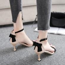 Women Korean Fashion Trend Wild Style Bow High Heel Stilleto