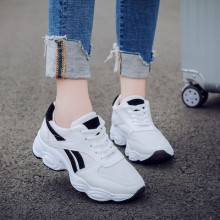 Women Korean Fashion Non Slip Thick Soled Casual Sports Shoes