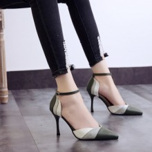 Women Korean Fashion Baotou Style Pointed Sexy  High Heeled Shoes