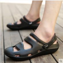Men's Korean Trend Wild Holes  Baotou Style  Big Beach Sandals