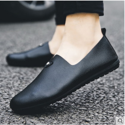 Men's Korean New Trend Casual  Round Head Peas Shoes