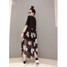 Women Korean Fashion Trend 2 Piece  Chiffon Loose Summer Dress