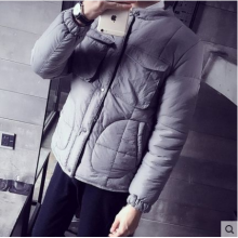 Men Korean Fashion Thick  Silk Cotton Filling  Body Warm Coat