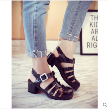 Women Korean Wild Style Summer Beach Plastic Roman Baotou Shoes