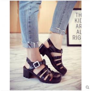 Women Korean Wild Style Summer Beach Plastic Roman Baotou Shoes