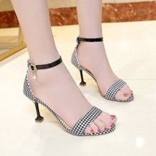 Women Korean Wild Style Hot Chic Open Toe Buckle Stilleto