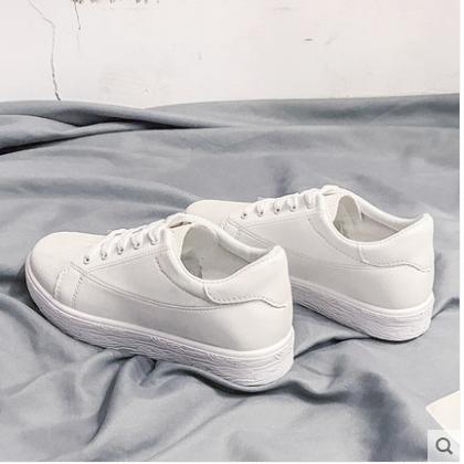 Women Korean Wild Style Casual Flat Lace up Low Heel Sneakers