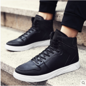 Men's Korean Youth Trend Casual High Top Lace Up Shoes