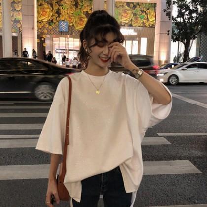 Women Korean Fashion Wild Style Loose Paragraph Casual Shirt