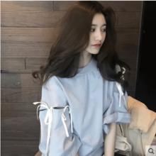 Women Korean Fashion Wild Fairy Trumpet Sleeve Loose Shirt