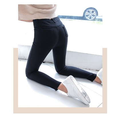 Women Korean Fashion Wild Tight Fitting  Velvet Leggings Plus Size
