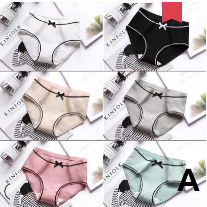 Women Sweet Girl 100% Cotton Antibacterial Breathable Underwear