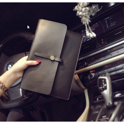 Men Drawstring Buckle Retro Clutch Multi Functions Handbag
