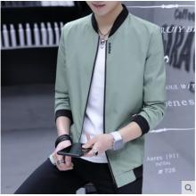Men Korean Fashion Satin Cloth Youth Style Tooling Jacket