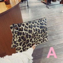 Women Fashion New Wild Style Animal Print Envelope Handbag