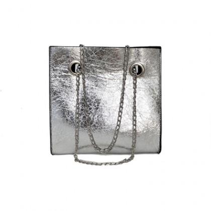 Women Korean Fashion  Wild Style Large Capacity Chain Shoulder Bag