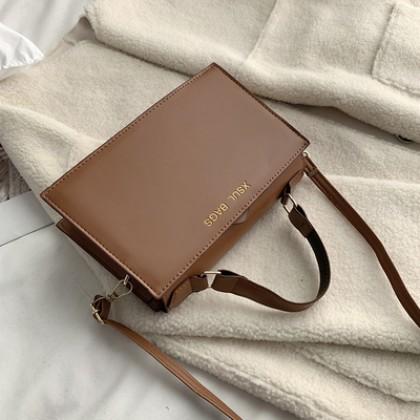 Women Korean Fashion Simple Small Square Casual Shoulder Bag