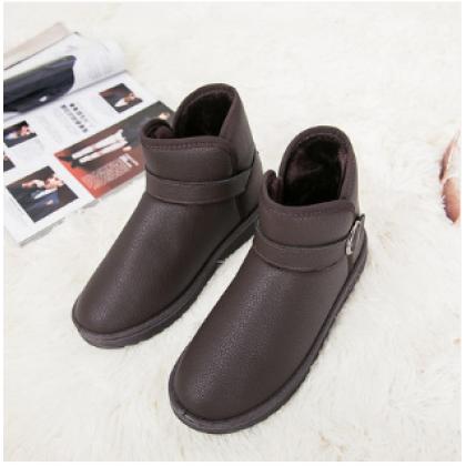 Men's Korean Youth Trend Velvet Cotton Winter Boots