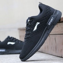 Men New Breathable Lightweight Sot Bottom Running Shoes