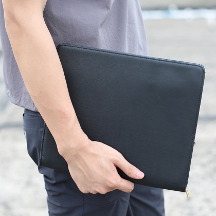Men New Fashion Fine Leather Soft Envelope Clutch Bag
