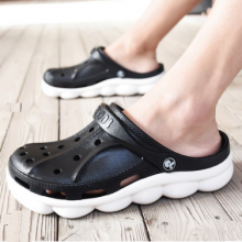 Men New Non-Slip Soft Bottom Lightweight Summer Breathable Hole Shoes