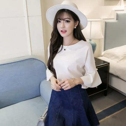 Women New Ruffled Chiffon Shirt Plus Size