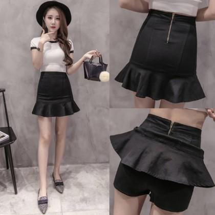 Women New Ruffled High Waist Skirt