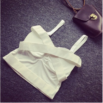 Women Korean Sexy Summer Cross Back Top Underwear