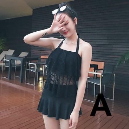Women Korean Fashion Sexy Back Lace Top Swimwear